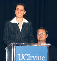 photo::2004 graduate Sepideh Gazeri tells how ICS has helped her start on the road to success. Gazeri is the first ICS student ever admitted into UCI's 3-2 program that offers students an opportunity to complete an undergraduate degree and MBA within 5 years.