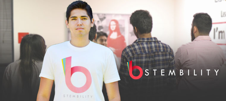 Computer science major Andres Vourakis prepares for a second season of his STEM-focused web series Stembility.