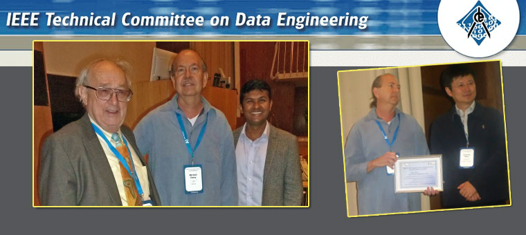 Professor Mike Carey accepted the prestigious IEEE Technical Committee of Data Engineering Computer Science, Engineering, and Education Impact Award in Helsinki.
