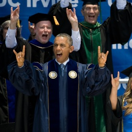 President Obama celebrates class of 2014