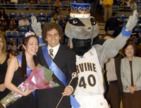 photo:: jeff fulkerson being crowned uci homecoming king