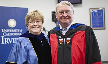 Judith and Gary Olson at the 2013 Bren School commencement ceremony