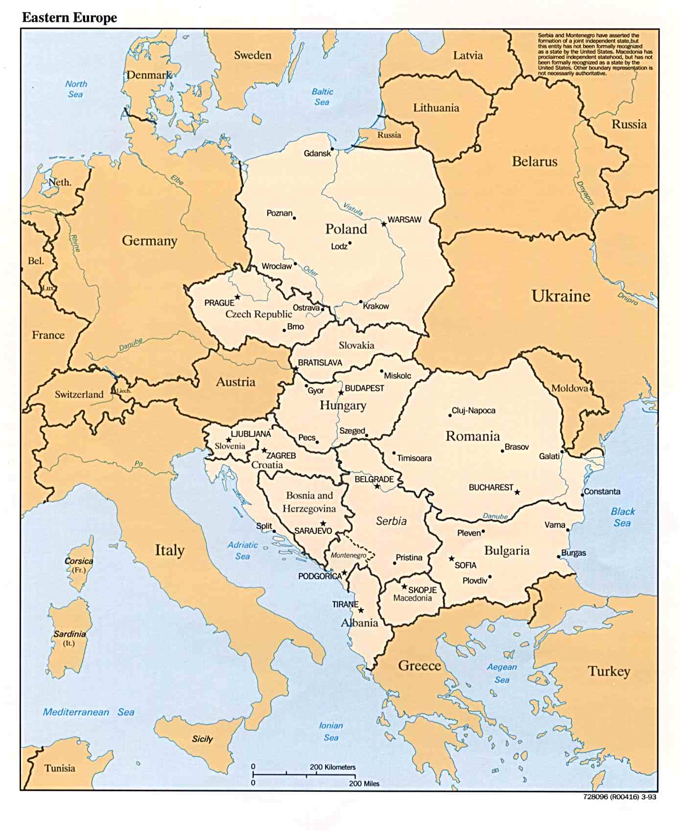General Map of Eastern Europe