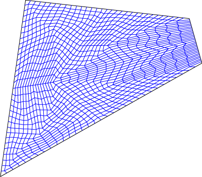 Area- and perimeter-preserving map constructed by recursive subdivision