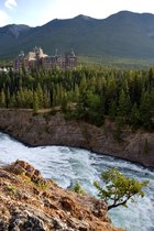 Banff Lodge and Bow Falls