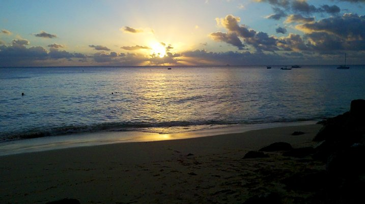 Sunset on the beach, Holetown, Barbados
