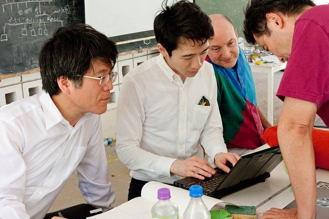 Tadashi Tokieda, Tomohiro Tachi, Tom Hull, and Ryuhei Uehara
