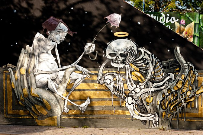 Street art at the Berenkuil, Eindhoven, Netherlands