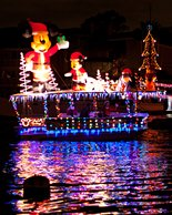 Mickey Mouse float at the Newport Beach Parade of Lights