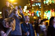 Spectators at the Newport Beach Parade of Lights