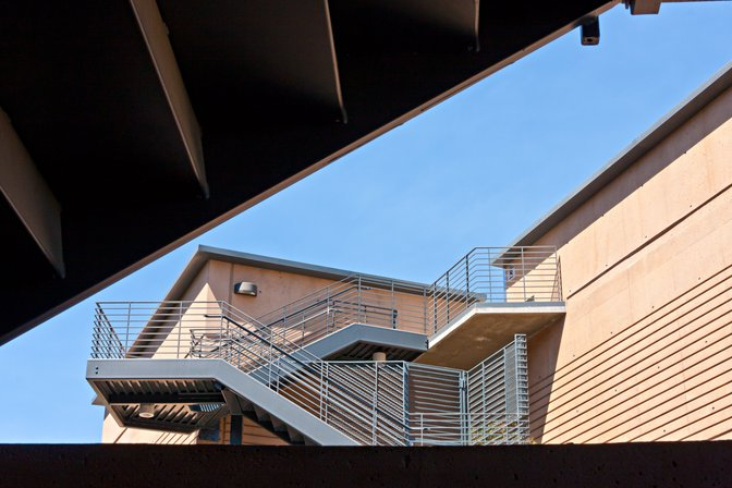 East stairway of Donald Bren Hall, UC Irvine