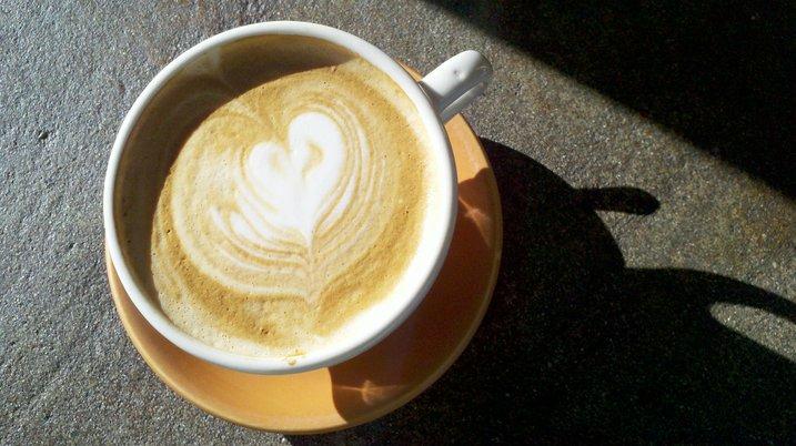 Heart cappucino