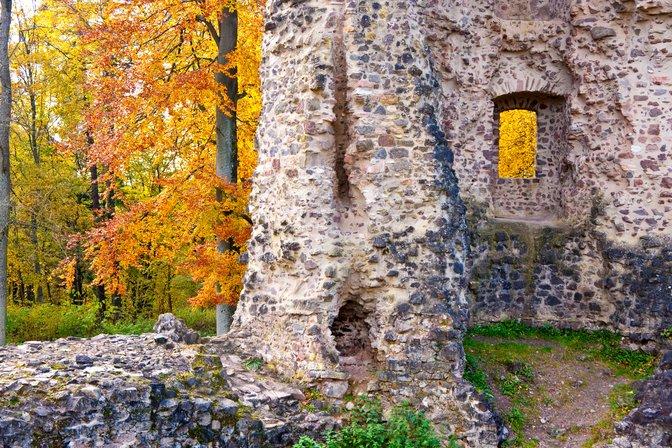 The ruins of Schloss Dagstuhl, Germany