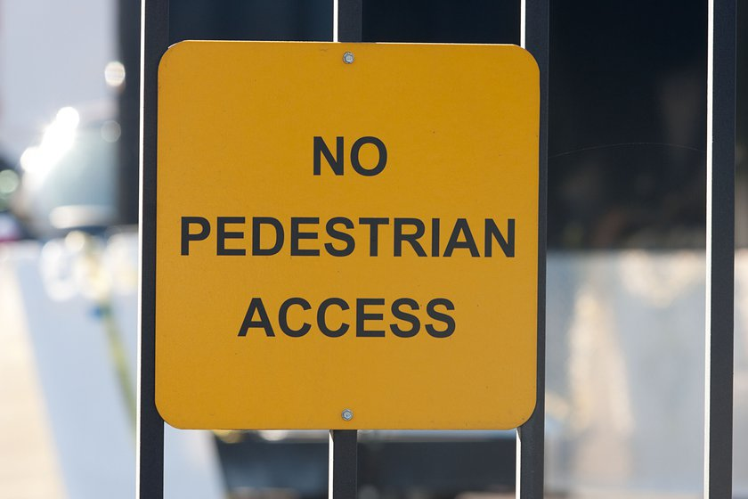 No Pedestrian Access