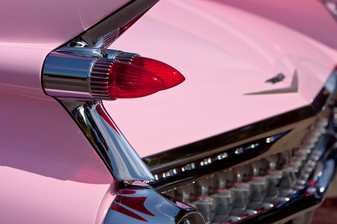 Pink Cadillac tailfin