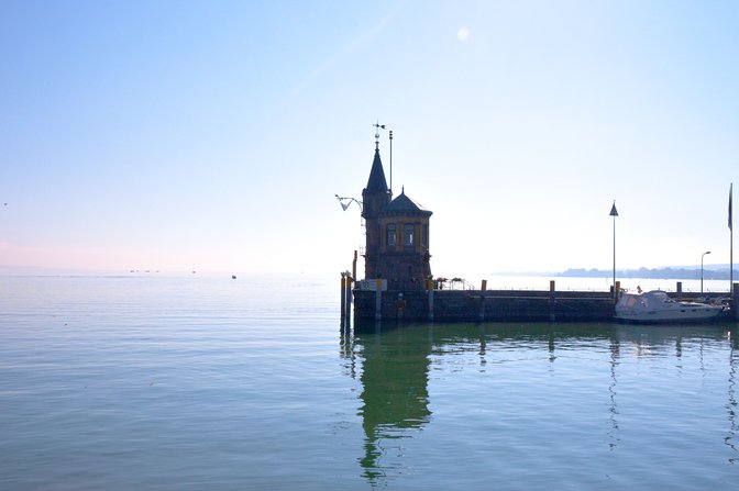 Konstanz harbor mouth house
