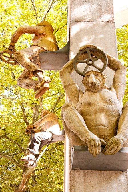 Seven sins sculpture in Konstanz