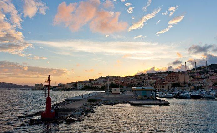 La Maddalena at sunset