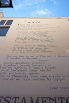 Pablon Neruda, Testamento, Wall Poem in Leiden