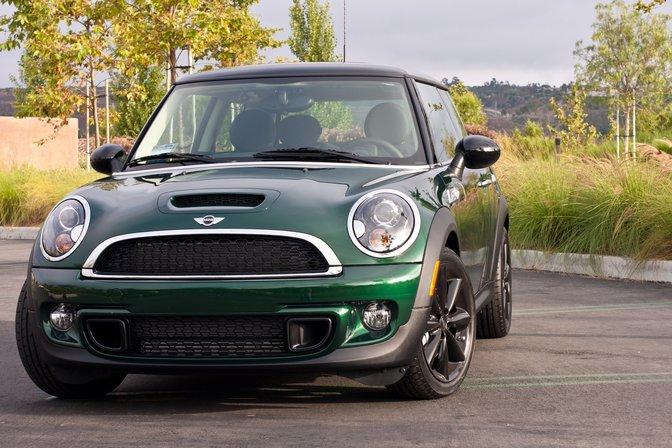 Green and black Mini Cooper S
