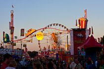Sunset on the midway at the Orange County Fair