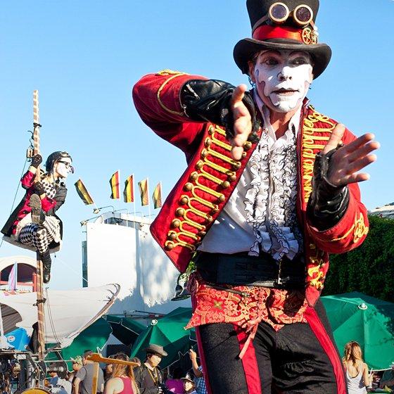 Steampunk stilt-walker at the Orange County Fair