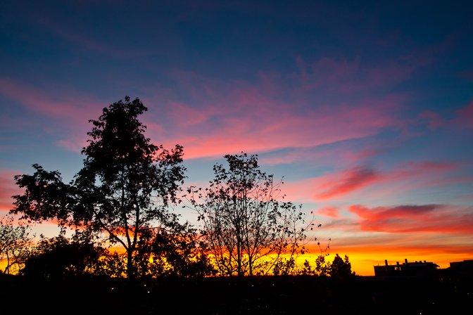 Sunset from Donald Bren Hall, UC Irvine