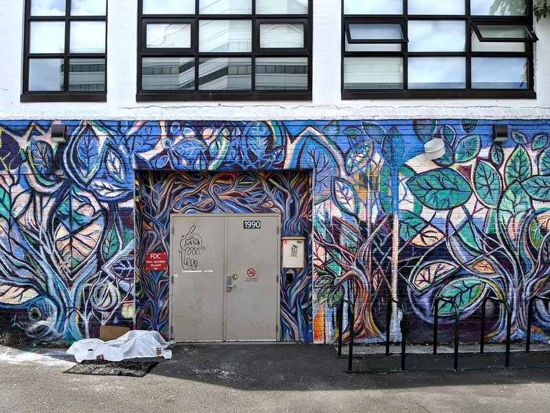 Portland Oregon Street art: College & 4th