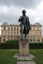 Statue of Antonín Dvořák in Jan Palach Square, Prague