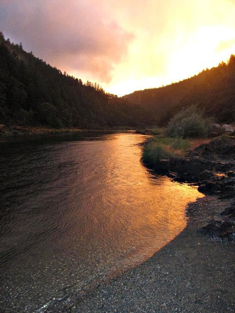 Sunset on the Rogue River