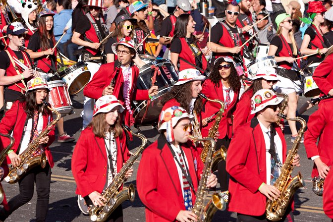 Stanford Band at the Rose Parade