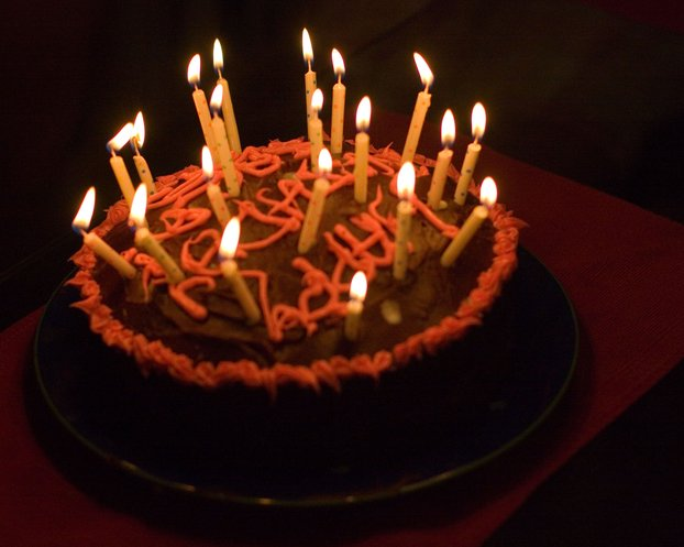 Pictures Of Birthday Cakes With Many Candles : Too Many Candles