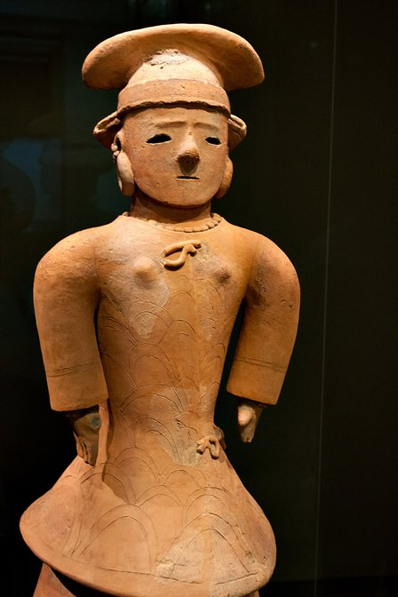 Female haniwa at the Tokyo National Museum in Ueno, Tokyo