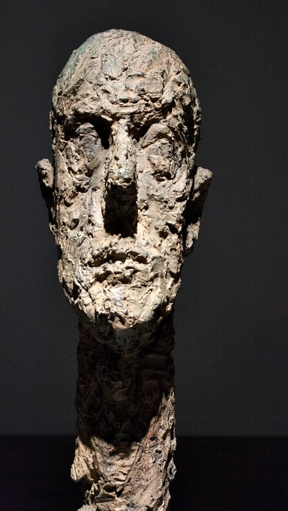 Alberto Giacometti, Monumental Head, in the National Art Center, Roppongi, Tokyo