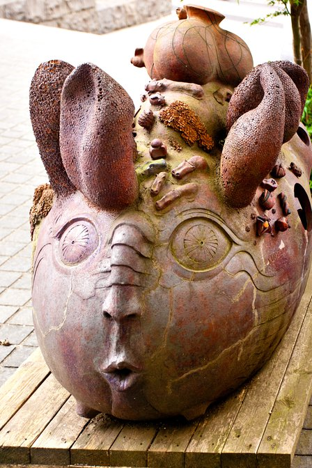Rabbit-eared creature at the Tokyo University of Science