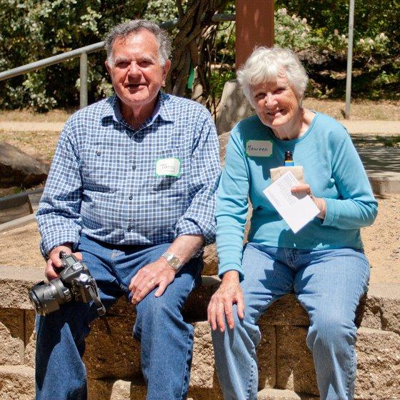 Maureen and Tony Eppstein at Stevens Creek Park, Santa Clara County, California