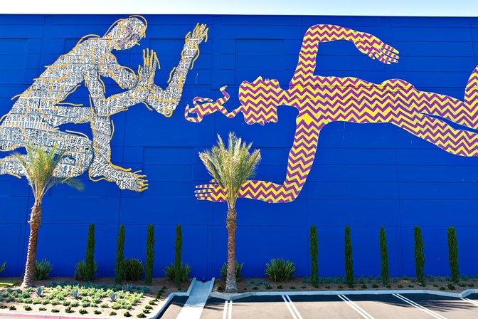 Zio Ziegler mural on the Tillys warehouse, Irvine, California