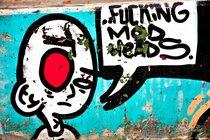 Utrecht graffiti: fucking mod heads