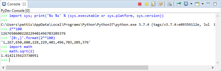 Python Programming in the Eclipse IDE