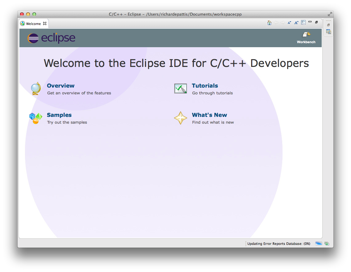 Eclipse/C++ Downloading/Installing, and Testing Instructions
