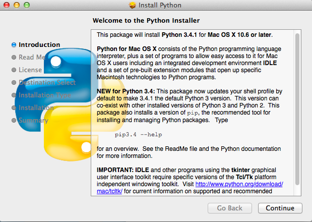 Python Download and Installation Instructions