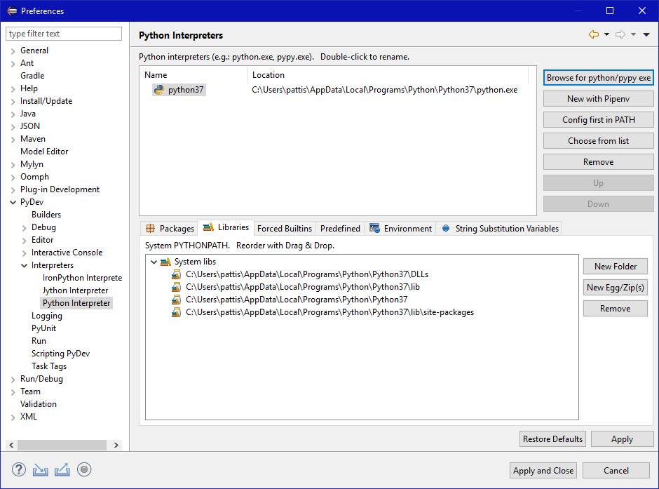 Course Library Installation in Eclipse/Python Instructions