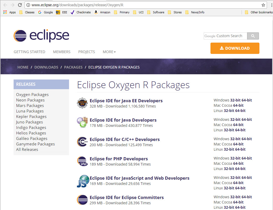 2. Start the Eclipse Installer executable